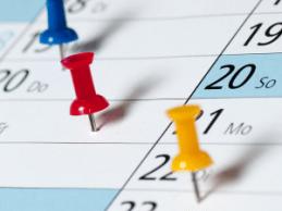 Gardening events calendar