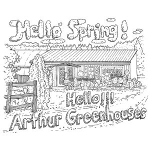 arthur greenhouses coloring page